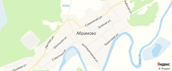 Карта села Абрамово в Новосибирской области с улицами и номерами домов