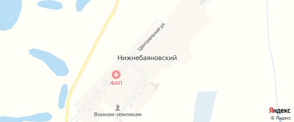 Улица Джамбула на карте Нижнебаяновского аула Новосибирской области с номерами домов