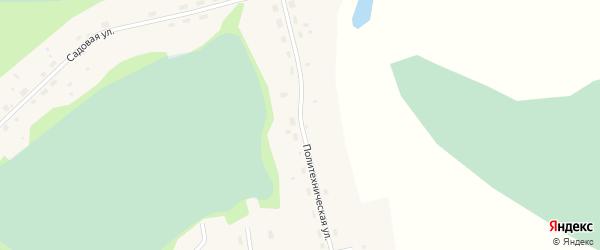 Политехническая улица на карте села Среднего Васюгана Томской области с номерами домов