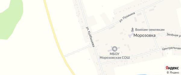 Улица Куйбышева на карте села Морозовки Новосибирской области с номерами домов