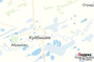 Карта г. Куйбышев Новосибирская область