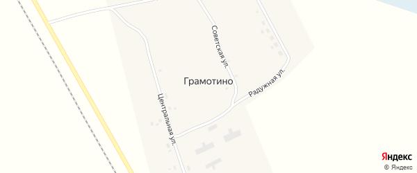 Радужная улица на карте поселка Грамотино Новосибирской области с номерами домов