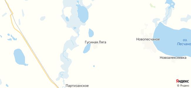 Гусиная Ляга на карте