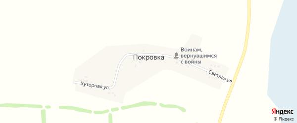 Хуторная улица на карте поселка Покровки Новосибирской области с номерами домов