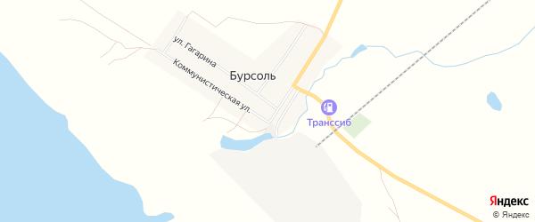 Карта поселка Бурсоли города Славгорода в Алтайском крае с улицами и номерами домов