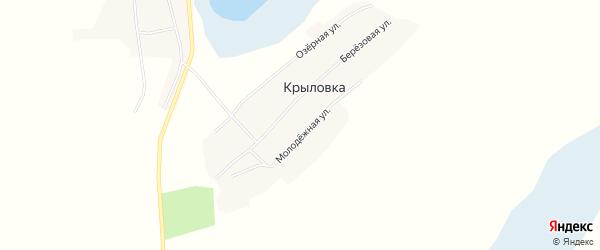 Карта поселка Крыловки в Новосибирской области с улицами и номерами домов