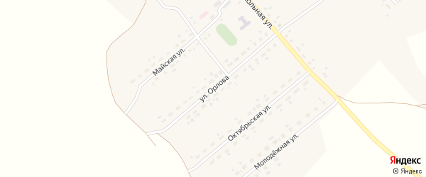 Улица Орлова на карте села Калиновки Новосибирской области с номерами домов