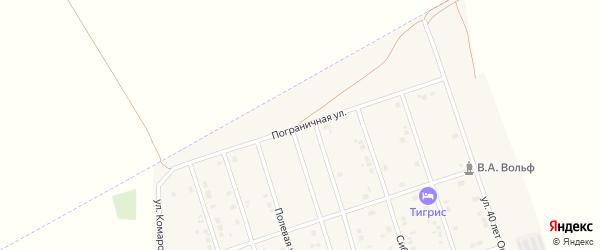 Пограничная улица на карте Ярового с номерами домов