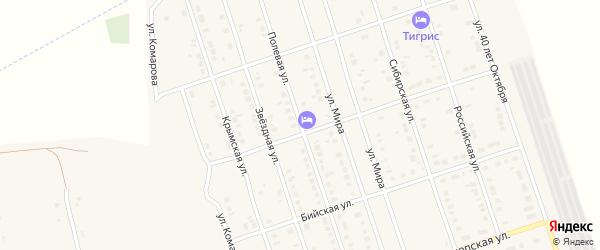 Полевая улица на карте Ярового с номерами домов