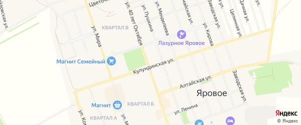 СТ Химик-2 на карте Ярового с номерами домов