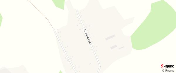 Степная улица на карте Рождественского поселка Новосибирской области с номерами домов