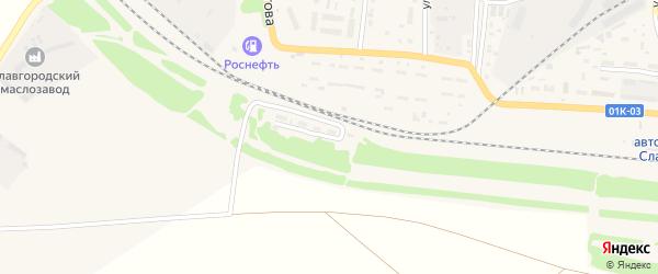 Улица 21 Околоток на карте Славгорода с номерами домов