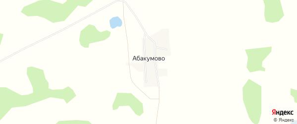 Карта поселка Абакумово в Новосибирской области с улицами и номерами домов