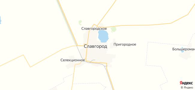 Славгород на карте