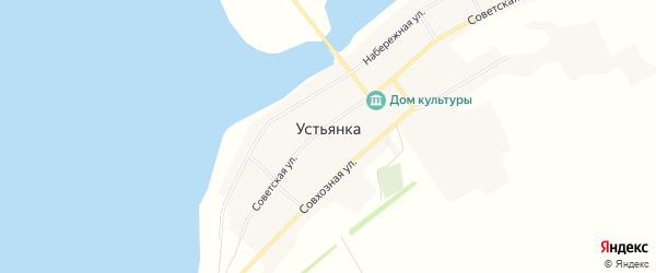 Карта села Устьянки в Алтайском крае с улицами и номерами домов