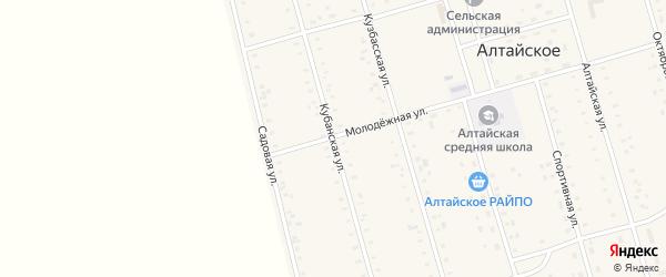 Кубанская улица на карте Алтайского села Алтайского края с номерами домов