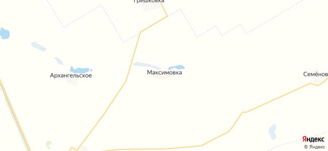 Максимовка на карте