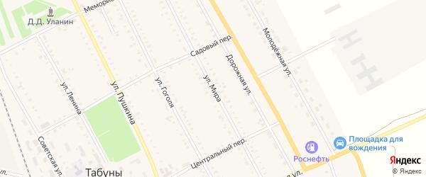Улица Мира на карте села Табуны с номерами домов