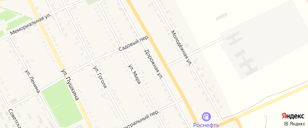 Дорожная улица на карте села Табуны Алтайского края с номерами домов