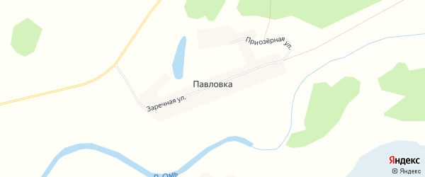Карта деревни Павловки в Новосибирской области с улицами и номерами домов