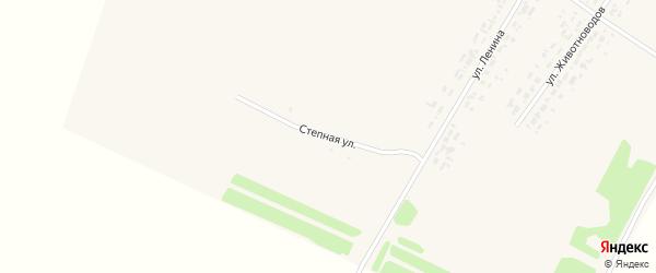 Степная улица на карте села Большеромановки с номерами домов