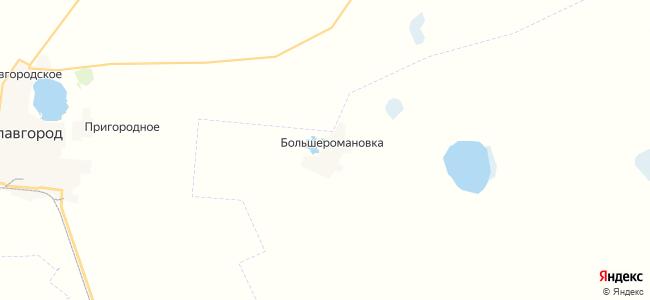 Большеромановка на карте