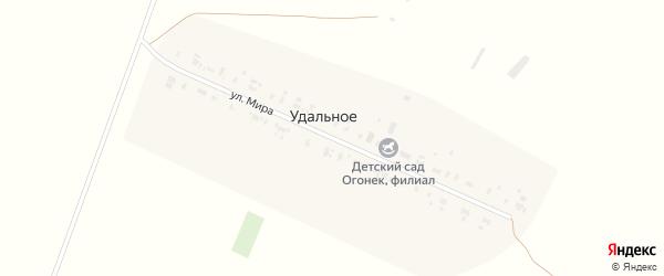 Улица Мира на карте Удального села Алтайского края с номерами домов