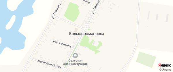 Улица Горького на карте села Большеромановки Алтайского края с номерами домов