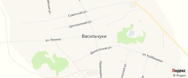 Карта села Васильчуки в Алтайском крае с улицами и номерами домов