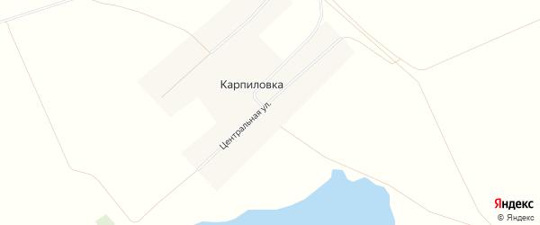Карта села Карпиловки в Алтайском крае с улицами и номерами домов
