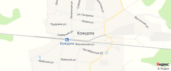 Карта села Кожурлы в Новосибирской области с улицами и номерами домов
