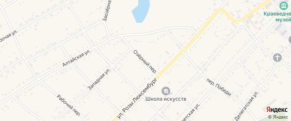Озерный переулок на карте села Ключи с номерами домов
