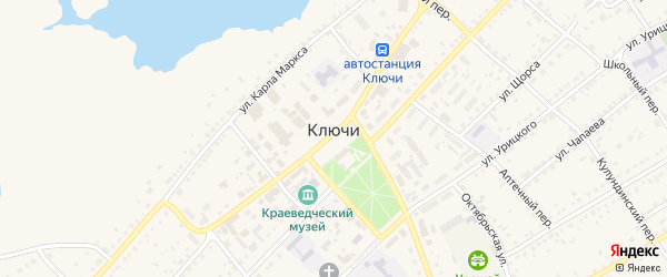 Степной переулок на карте села Ключи с номерами домов