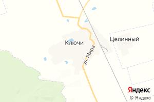 Карта с. Ключи Алтайский край
