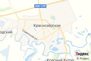 Карта пгт Краснозерское Новосибирская область