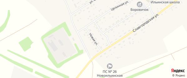 Новая улица на карте села Новоильинки Алтайского края с номерами домов