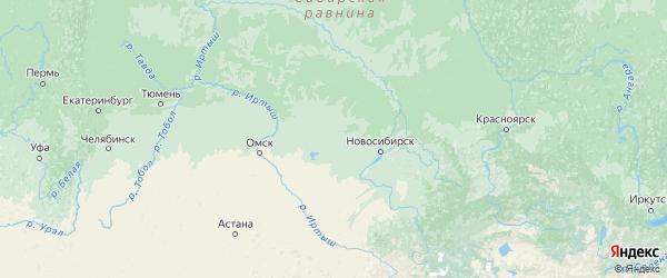 Карта Новосибирской области с городами и районами