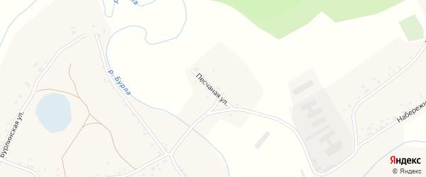 Песчаная улица на карте села Новоильинки Алтайского края с номерами домов