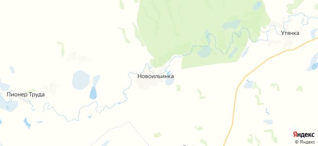 Новоильинка на карте