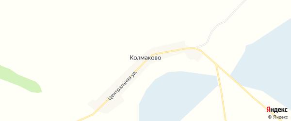 Карта села Колмаково в Новосибирской области с улицами и номерами домов
