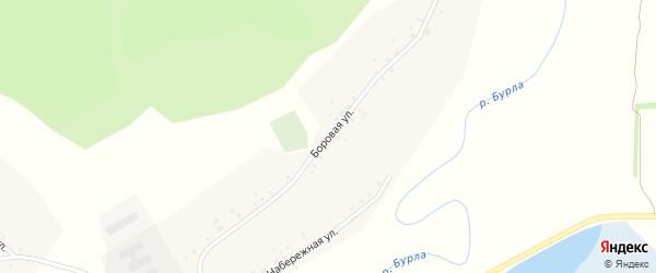 Боровая улица на карте села Новоильинки Алтайского края с номерами домов