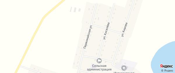 Первомайская улица на карте села Истимиса Алтайского края с номерами домов