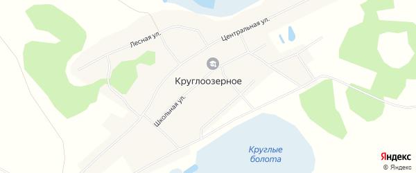 Карта Круглоозерного села в Новосибирской области с улицами и номерами домов
