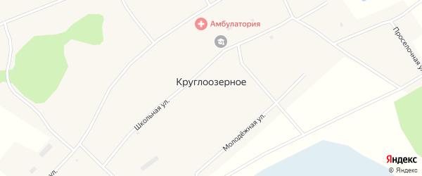 Молодежный переулок на карте Круглоозерного села Новосибирской области с номерами домов