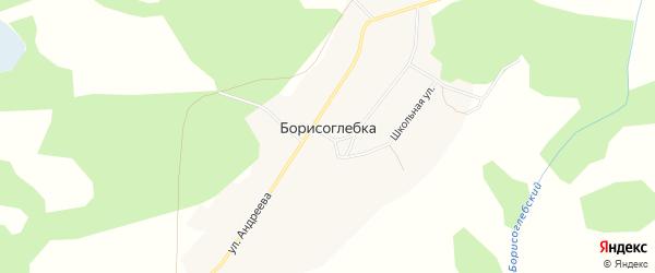Карта села Борисоглебки в Новосибирской области с улицами и номерами домов