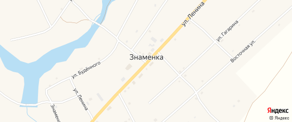 Улица Гагарина на карте села Знаменки с номерами домов