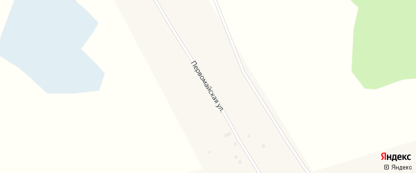 Первомайская улица на карте села Мартовки Алтайского края с номерами домов