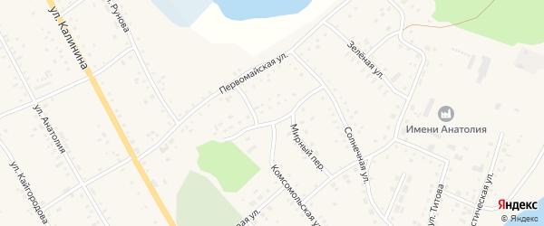 Мирный переулок на карте села Хабаров Алтайского края с номерами домов