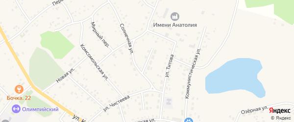 Солнечный переулок на карте села Хабаров с номерами домов