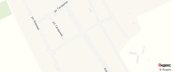 Комсомольская улица на карте села Петухи с номерами домов